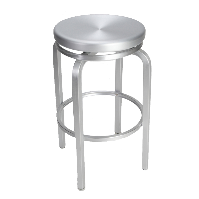 paula brushed aluminum swivel bar stool restaurant furniture warehouse