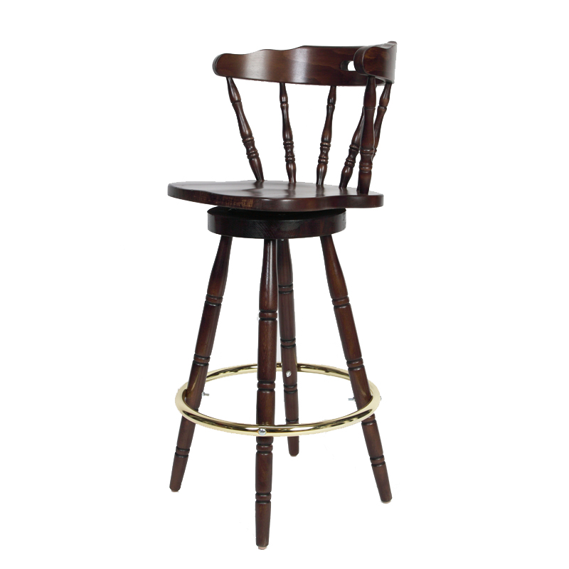 Colonial Wood Bar Stool Restaurant Furniture Warehouse