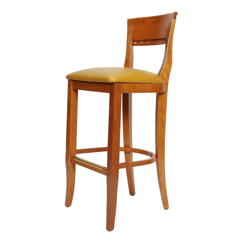 Biedermeier Wood Bar Stool Restaurant Furniture Warehouse