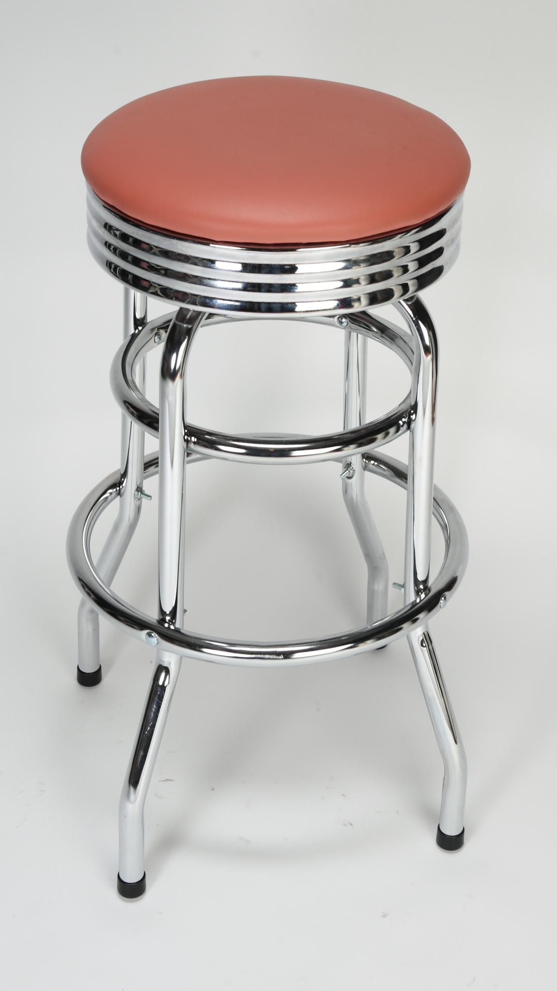 Chrome circle swivel bar stool restaurant furniture