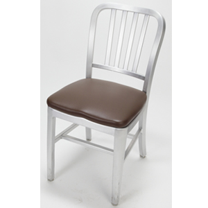 Aluminum dining chair with Upholstered Seat