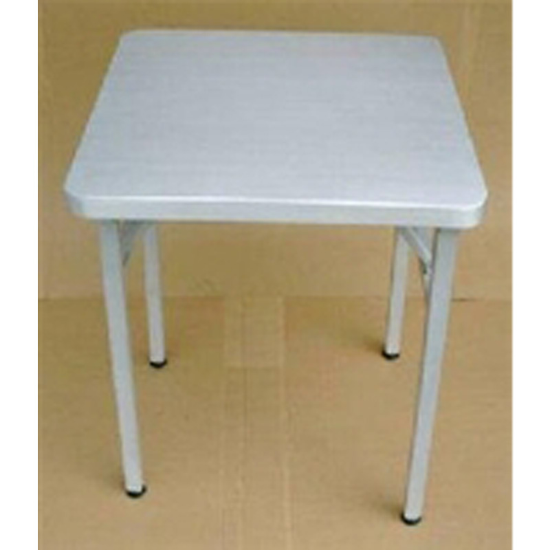 Brushed aluminum 24 square folding table restaurant for Table cuisine retractable