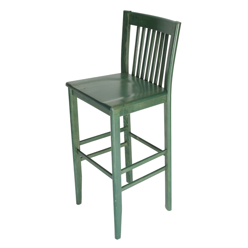 Constance Wood Bar Stool In Green Restaurant Furniture