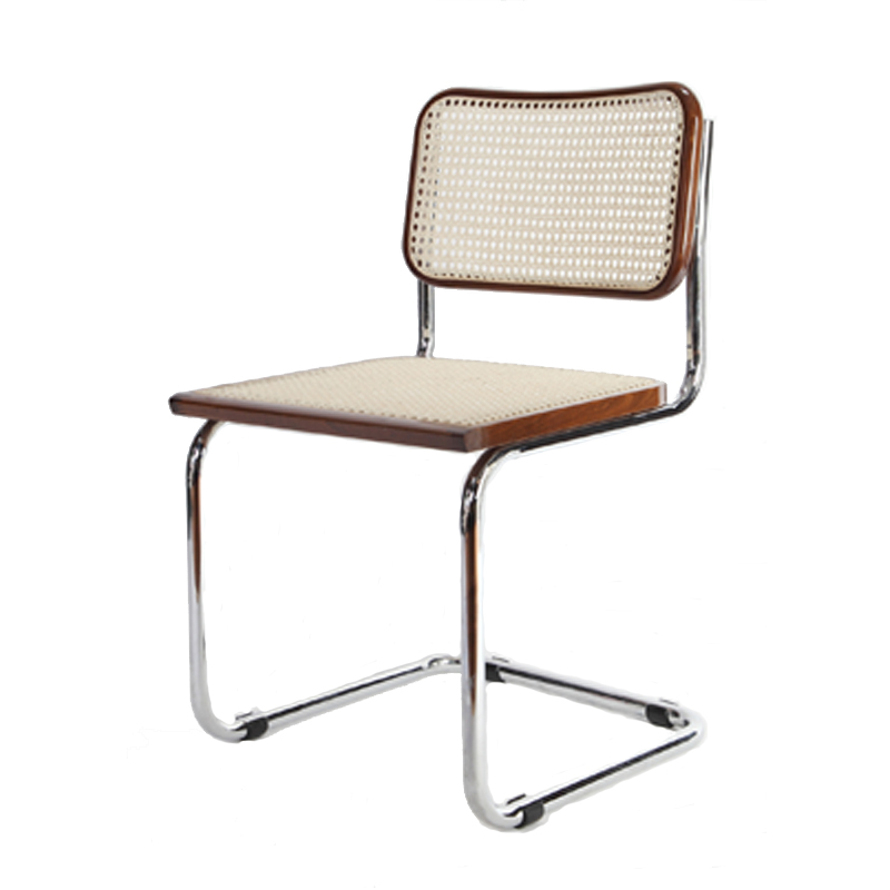 Breuer metal chair with cane seat and back restaurant furniture warehouse - Cane bistro chairs ...