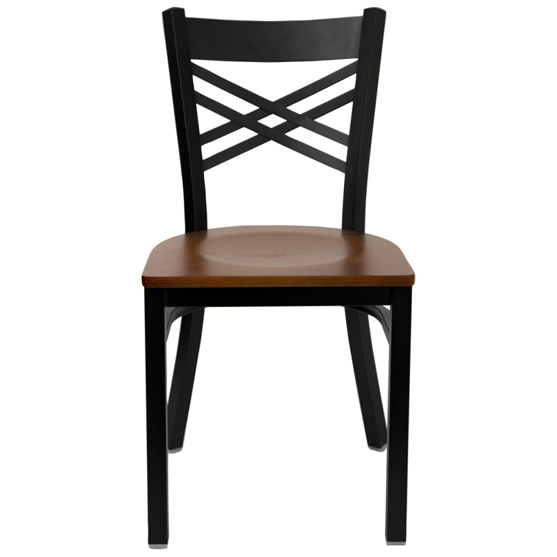 Double metal black chair restaurant furniture warehouse