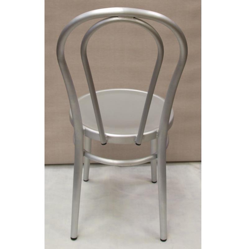 Brushed aluminum chairs restaurant furniture warehouse