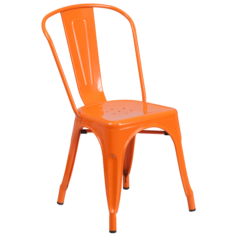 Stackable Bistro Style Metal Chair Restaurant Furniture Warehouse