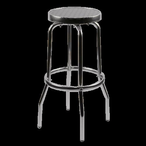 aluminum backless stool
