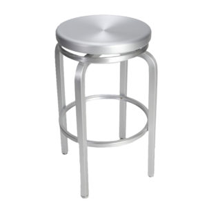 Brushed Aluminum Swivel Bar Stool