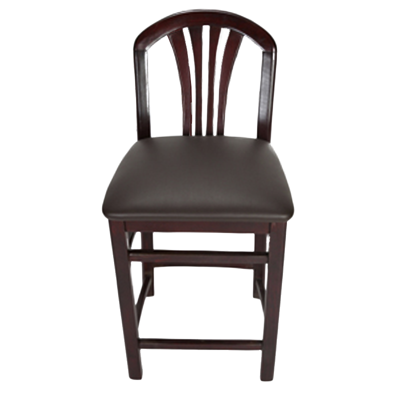 Crystal 24 Quot Counter Stool Mahogany Restaurant Furniture