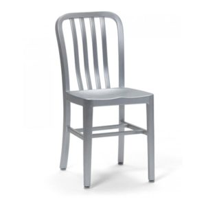 Brushed Aluminum Chair Navy