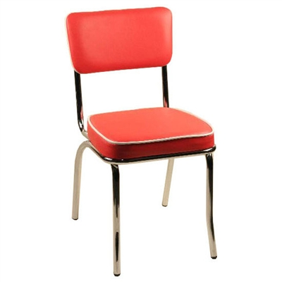 Retro Metal Chair For Bistro Diner Cafe Patio Indoor Or