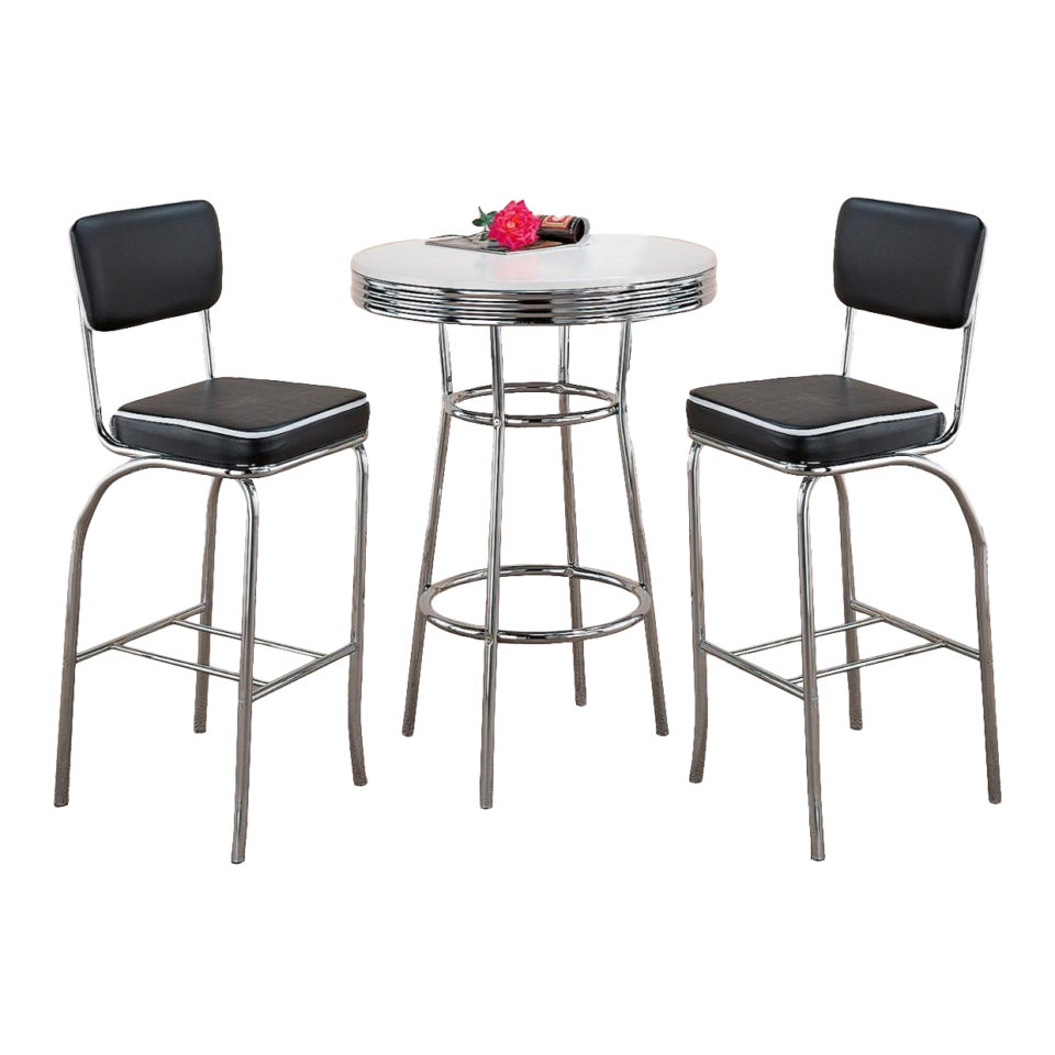 Pleasing Retro Bar Table Stool Set Onthecornerstone Fun Painted Chair Ideas Images Onthecornerstoneorg