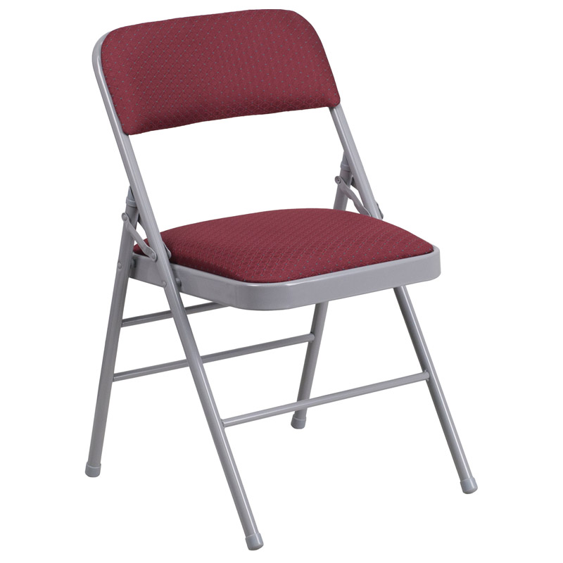 Metal Folding Chairs With Padded Seat Back Restaurant Furniture Warehouse