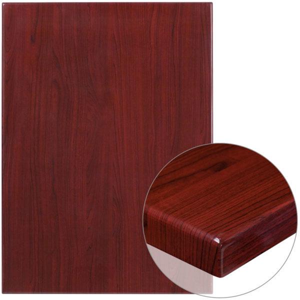 Home / Shop / Restaurant Resin Table / Resin Table Top 30 X 42u2033 Mahogany