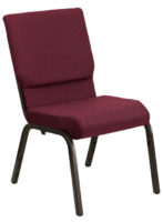 Burgundy Patterned Church Stacking Chair