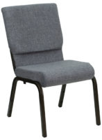 Gray Church Stacking Chair