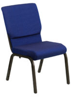 Navy Blue Patterned Church Stacking Chair