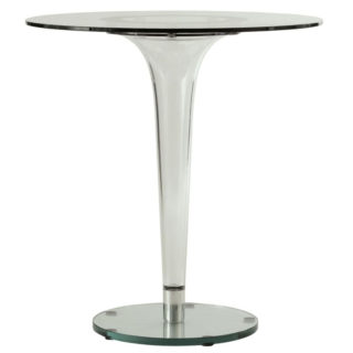 Cone Shape Glass Square Table
