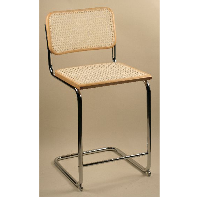 Pleasing Breuer Metal Stool With Cane Seat And Back Ibusinesslaw Wood Chair Design Ideas Ibusinesslaworg