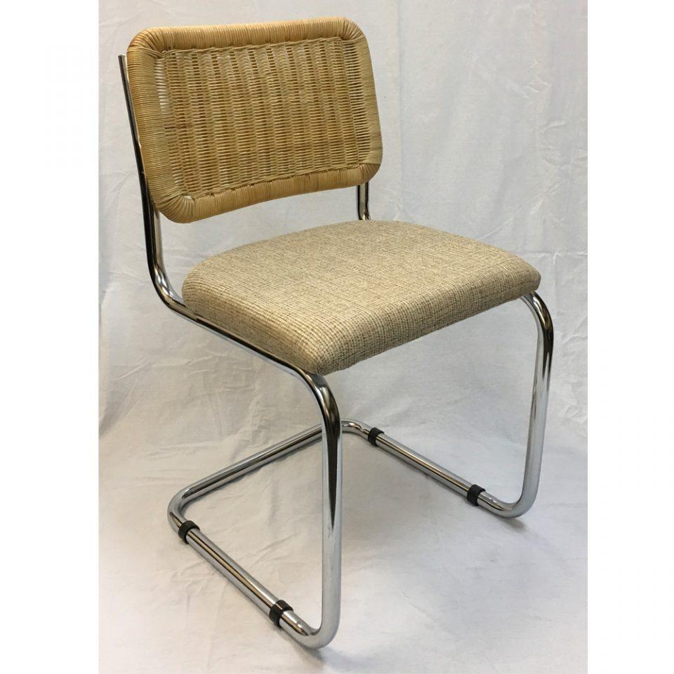 Breuer Metal Chair W Cane Seat Back Restaurant Furniture Warehouse
