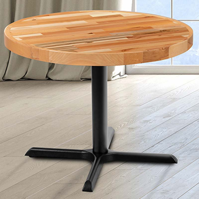 Round Butcher Block Style Table, Round Butcher Block Table